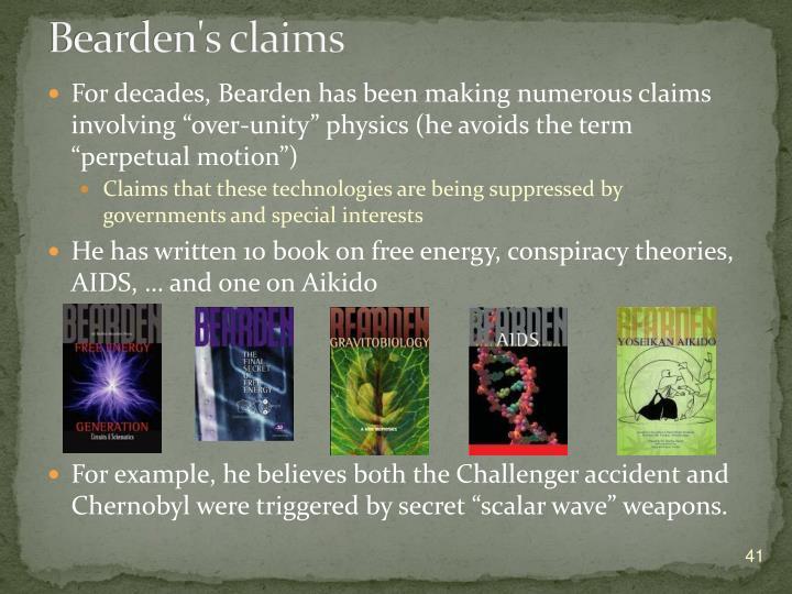 Bearden's claims