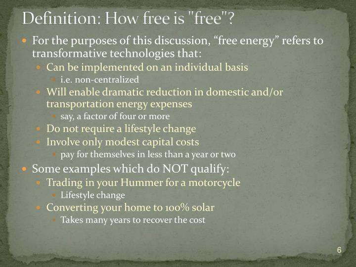"""Definition: How free is """"free""""?"""