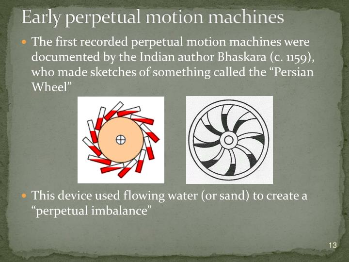 Early perpetual motion machines
