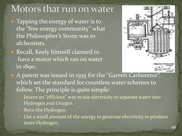 Motors that run on water