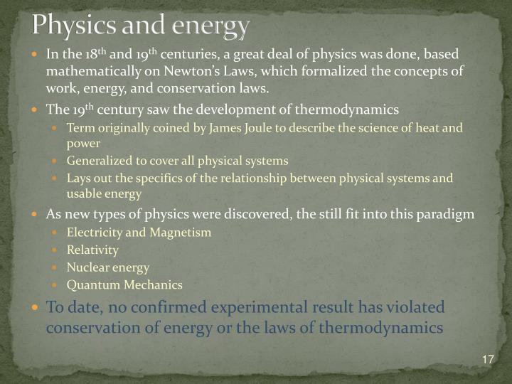 Physics and energy