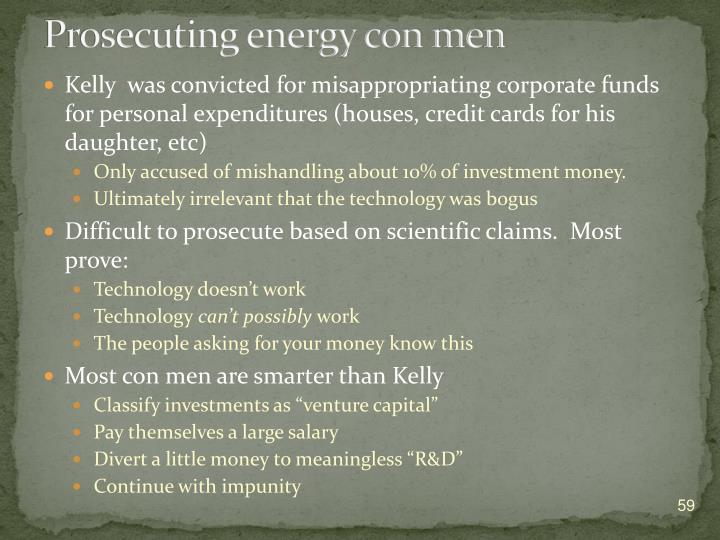 Prosecuting energy c