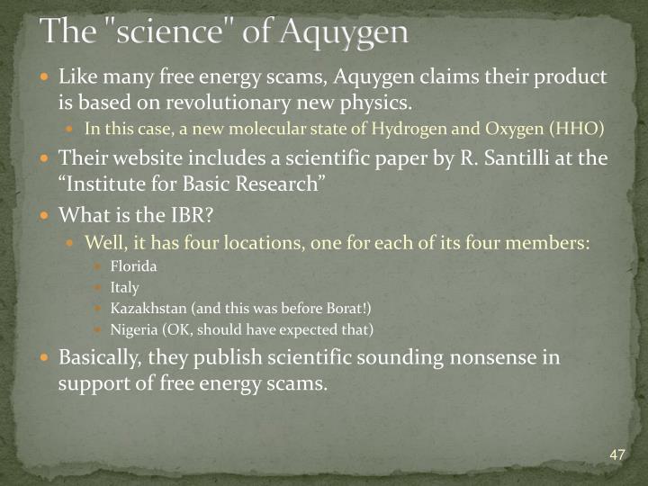 """The """"science"""" of Aquygen"""