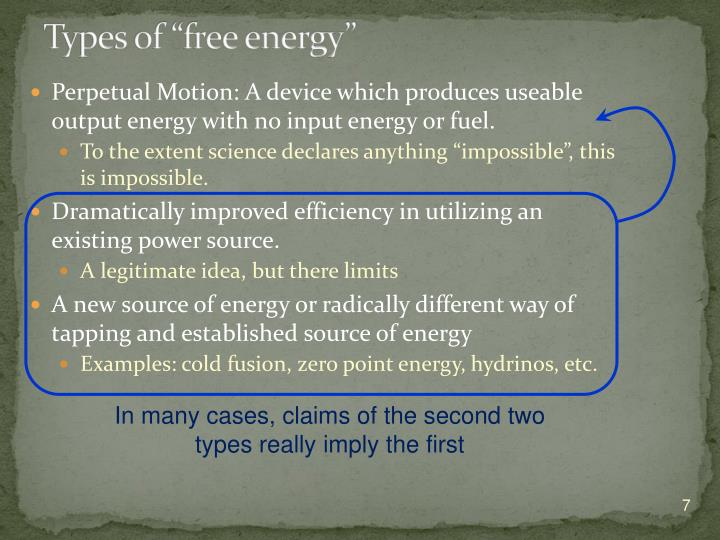 "Types of ""free energy"""