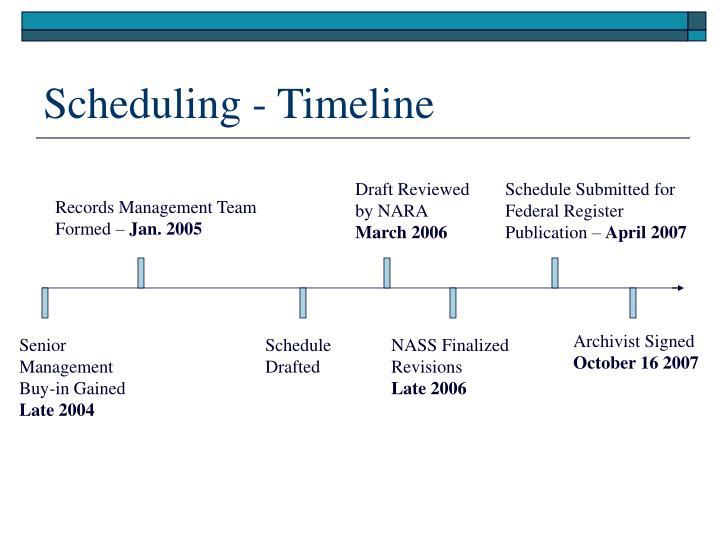 Scheduling - Timeline