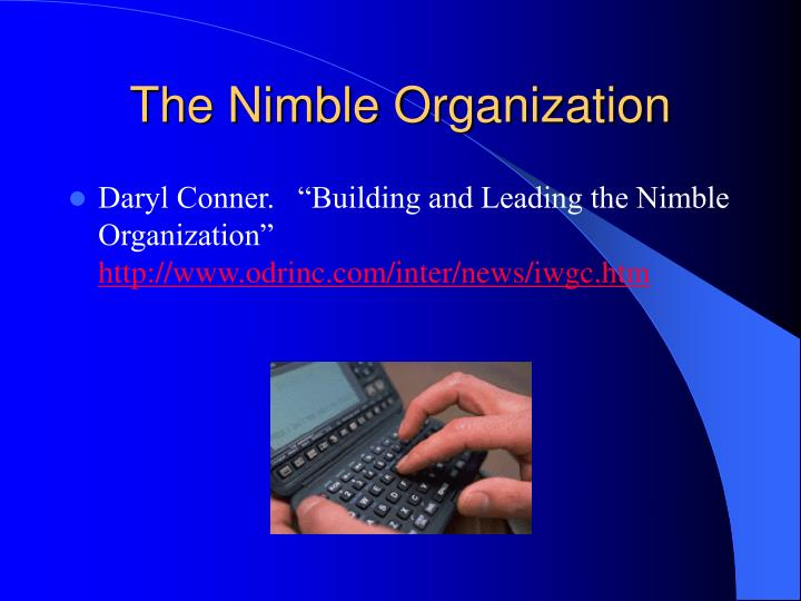 The Nimble Organization