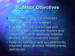 iic major objectives cont d
