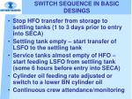 switch sequence in basic desings