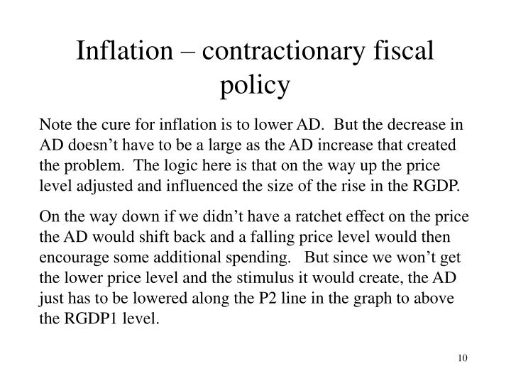 Inflation – contractionary fiscal policy