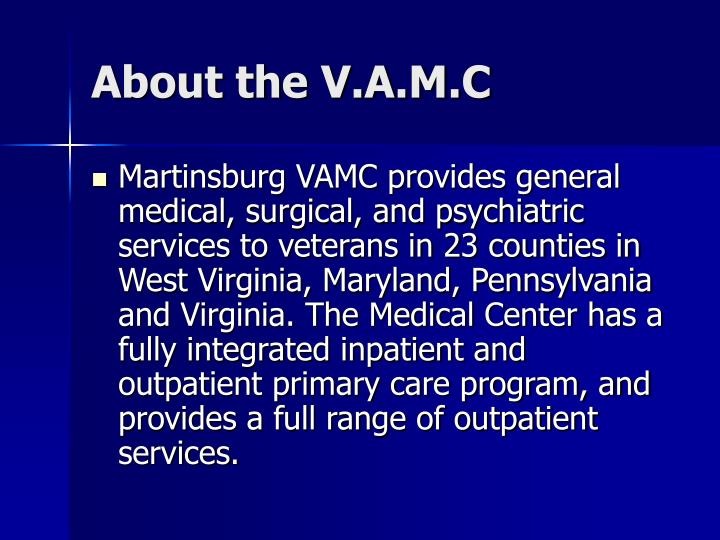 About the V.A.M.C