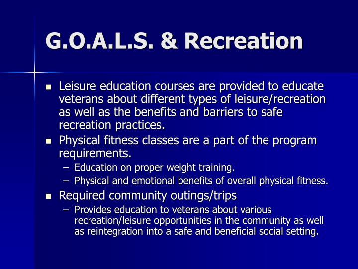 G.O.A.L.S. & Recreation