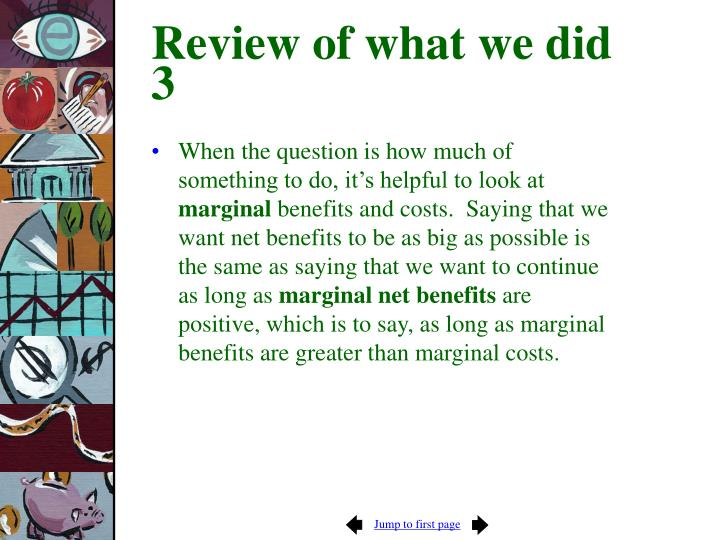 Review of what we did 3