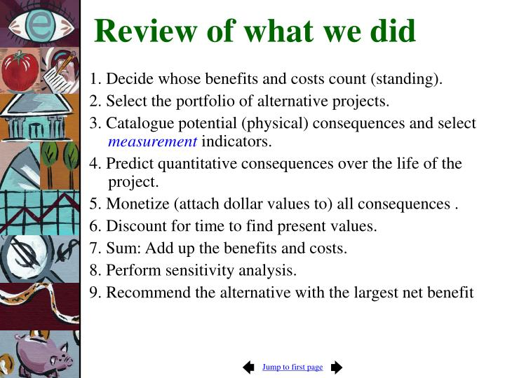 Review of what we did