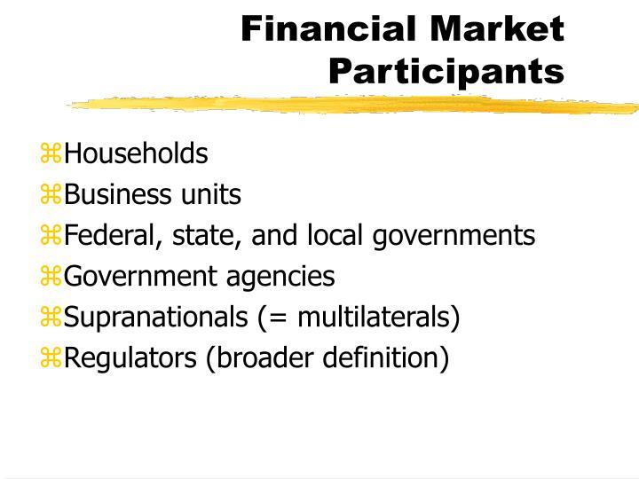 Financial Market Participants