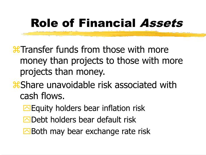 Role of Financial