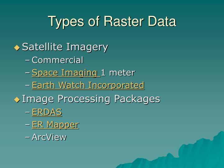 Types of Raster Data