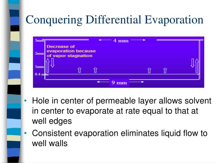 Conquering Differential Evaporation