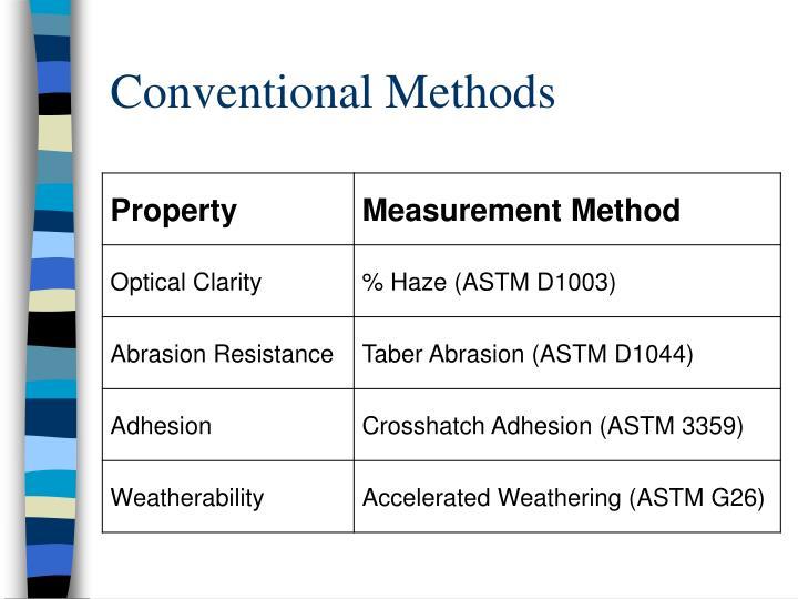 Conventional Methods