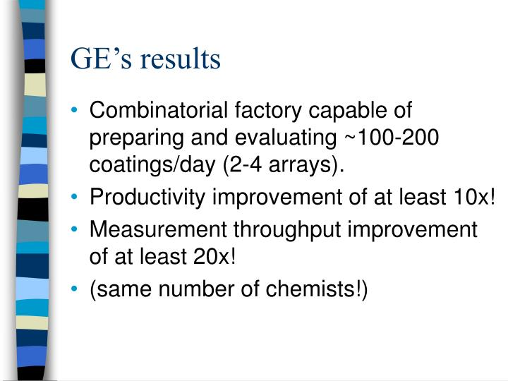 GE's results
