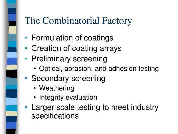 The Combinatorial Factory