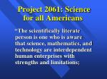 project 2061 science for all americans
