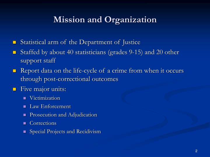 Mission and organization