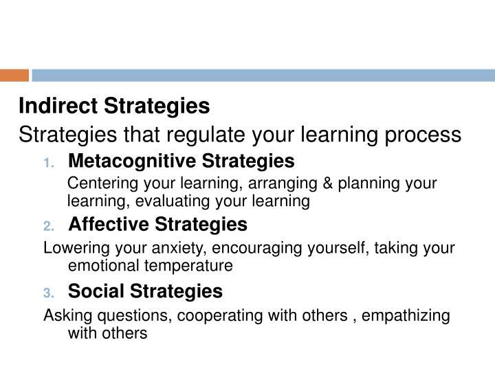 Indirect Strategies