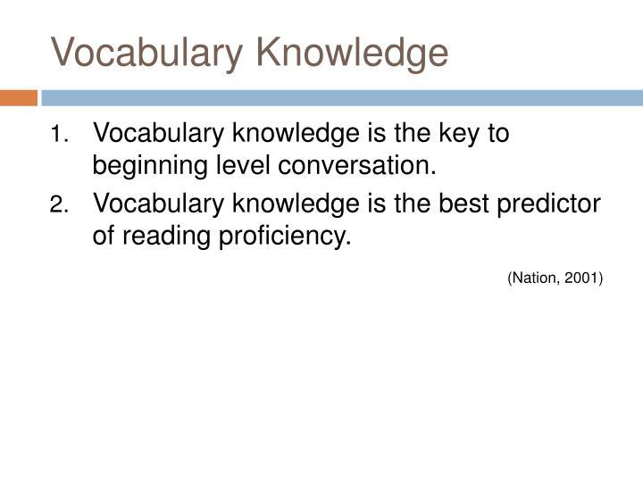 Vocabulary Knowledge