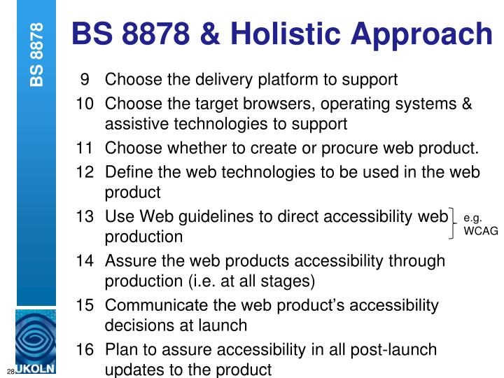 BS 8878 & Holistic Approach
