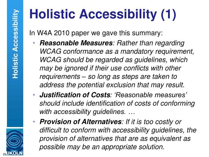 Holistic Accessibility (1)