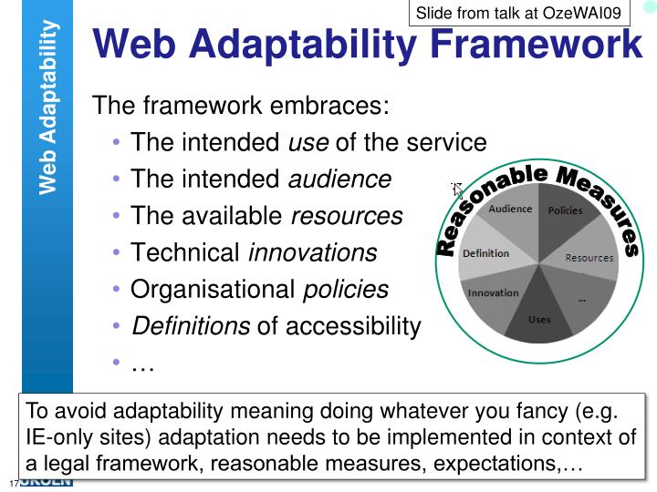 Slide from talk at OzeWAI09