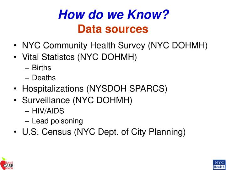 How do we know data sources
