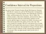 confidence interval for proportions