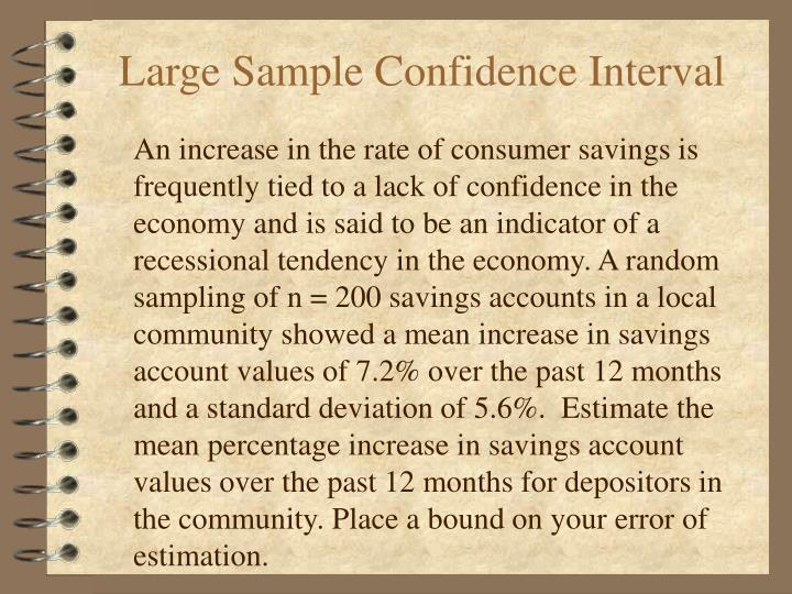 large sample confidence interval n.