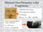 miniature dual frequency lidar components