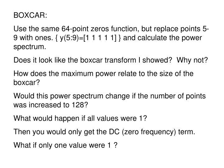 BOXCAR: