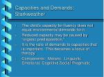 capacities and demands starkweather