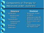 components of therapy for advanced older stutterers