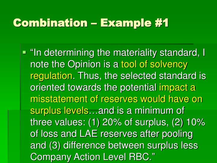 Combination – Example #1
