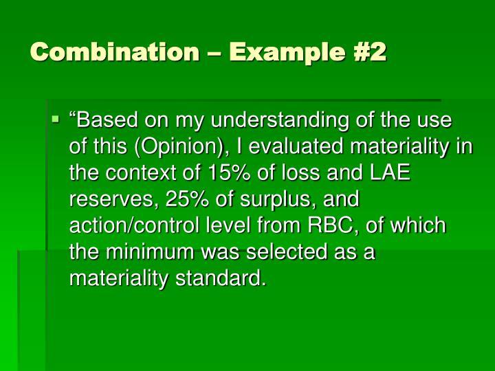 Combination – Example #2