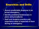 exercises and drills