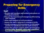 preparing for emergency drills