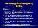 preparing for emergency drills1