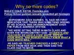 why no more codes