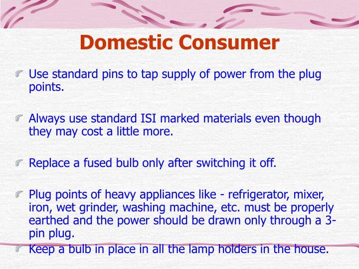 Domestic Consumer