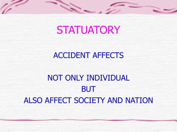 STATUATORY