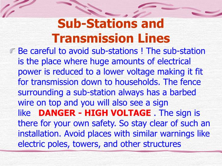 Sub-Stations and Transmission Lines