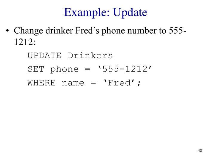 Example: Update