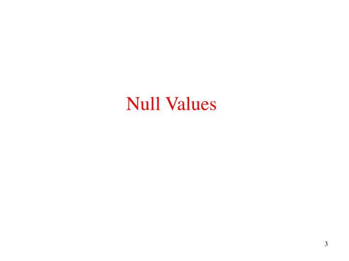 Null values