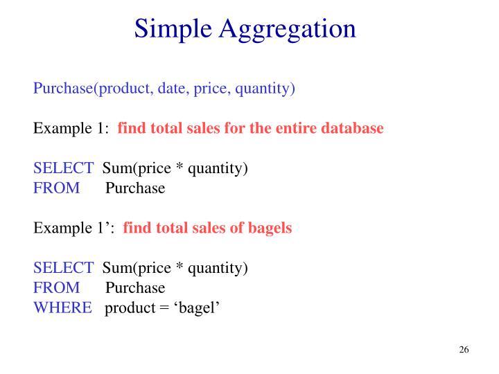 Simple Aggregation